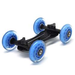 Video sliedes - Mini ratiņi video filmēšanai Dolly-01 Mini Dolly Kit DSLR Tabletop Slider Truck Skater - perc veikalā un ar piegādi
