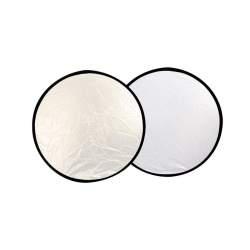 Saliekamie atstarotāji - ExpoImaging 32in 2-in-1 Reflector Silver / Natural White 80cm - perc veikalā un ar piegādi