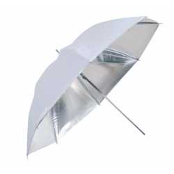 Umbrellas - Falcon Eyes Umbrella UR-48S Silver/White 122 cm - buy today in store and with delivery