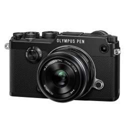 Bezspoguļa kameras - Olympus PEN-F 1718 Kit black - ātri pasūtīt no ražotāja