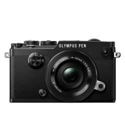 Bezspoguļa kameras - Olympus PEN-F Pancake Zoom Kit black - ātri pasūtīt no ražotāja