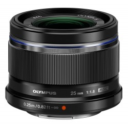 Objektīvi - Olympus M.ZUIKO DIGITAL 25mm 1:1.8 incl lens hood ES-M2518 silver - ātri pasūtīt no ražotāja