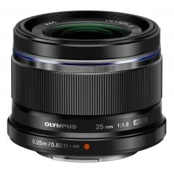 Objektīvi - Olympus M.ZUIKO DIGITAL 25mm 1:1.8 incl lens hood ES-M2518 black - perc veikalā un ar piegādi