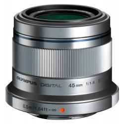 Objektīvi - Olympus M.ZUIKO DIGITAL 45mm 1:1.8 ET-M4518 silver - ātri pasūtīt no ražotāja