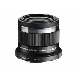 Objektīvi - Olympus M.ZUIKO DIGITAL 45mm 1:1.8 ET-M4518 black - perc veikalā un ar piegādi