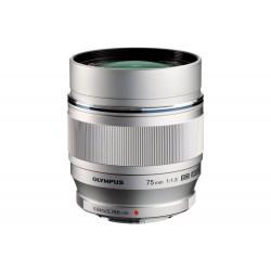 Objektīvi - Olympus M.ZUIKO DIGITAL ED 75mm 1:1:8 ET-M7518 silver - ātri pasūtīt no ražotāja