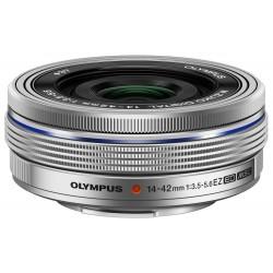 Objektīvi - Olympus M.ZUIKO DIGITAL ED 14-42mm 1:3.5-5.6 EZ (pancake zoom) EZ-M1442EZ silver - ātri pasūtīt no ražotāja