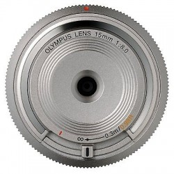 Objektīvi - Olympus Objektīvs Body Cap Lens 15mm 1:8.0 BCL-1580 silver - ātri pasūtīt no ražotāja
