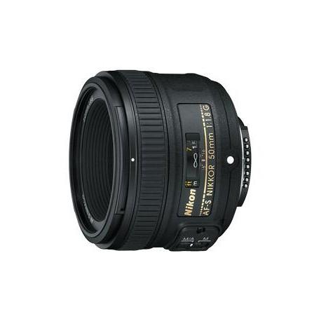 Objektīvi - Nikon 50 mm 1.8G AF-S Nikkor AF 50mm F1.8G - perc šodien veikalā un ar piegādi