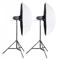 Komplekti - walimex pro Newcomer Studioset Mini 200 - 100/100Ws - ātri pasūtīt no ražotāja