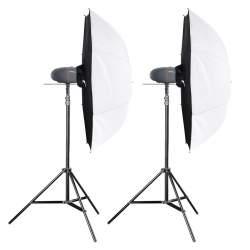 Komplekti - walimex pro Newcomer Studioset Mini 300 - 150/150Ws - perc veikalā un ar piegādi