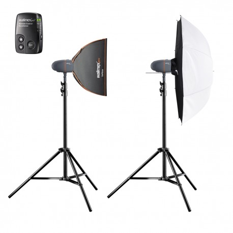 Studio flash kits - walimex pro Newcomer Set Classic 3/3 1SB1DS+ - quick order from manufacturer
