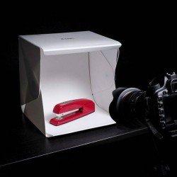 Gaismas kastes - Mini gaismas kaste ar LED gaismām, baltu un melnu fonu PS-01 - perc šodien veikalā un ar piegādi