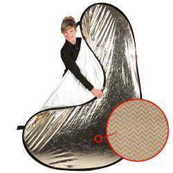 Foldable Reflectors - Walimex pro 2in1 Foldable Reflector wavygold/white - quick order from manufacturer