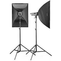 Комплекты студийных вспышек - walimex pro VE Set Classic 1,5/1,5 2SB+ - быстрый заказ от производителя