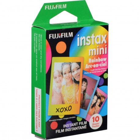 Instantkameru filmiņas - FUJIFILM Colorfilm instax mini RAINBOW (10PK) - perc šodien veikalā un ar piegādi