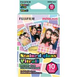 Instantkameru filmiņas - FUJIFILM Colorfilm instax mini STAINED GLASS (10PK) - perc šodien veikalā un ar piegādi