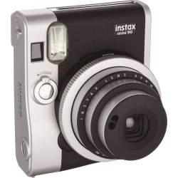 Фотоаппараты моментальной печати - FUJIFILM instax mini 90 NC black instant camera+instax glossy (10pcs.) - купить сегодня в магазине и с доставкой