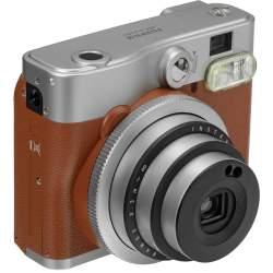 Instantkameras - FUJIFILM instax mini 90 NC brown instant camera+instax glossy (10pcs.) - perc šodien veikalā un ar piegādi