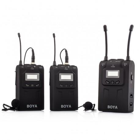 Pirkt Boya Uhf Dual Lavalier Microphone Wireless By Wm8