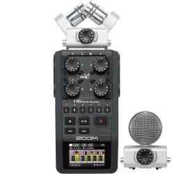 Video Lighting & Accessories - Zoom H6 audio rakstītājs ar diviem mikrofoniem
