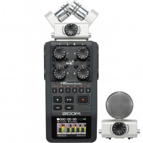 Skaņas ierakstīšana - Zoom H6 audio rakstītājs ar diviem mikrofoniem