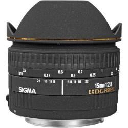 Objektīvi - Sigma 15mm f/2.8 EX DG Diagonal Fisheye objektīvs priekš Canon - perc šodien veikalā un ar piegādi