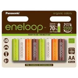 Akumulatori zibspuldzēm - Panasonic ENELOOP lādējāmas baterijas AA (8 gab.) 1900 mAh organic - perc veikalā un ar piegādi