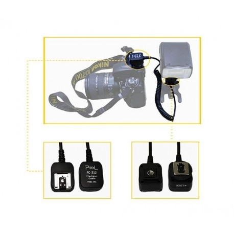 Acessories for flashes - Pixel TTL Cord FC-312/S 1,8m for Nikon - quick order from manufacturer