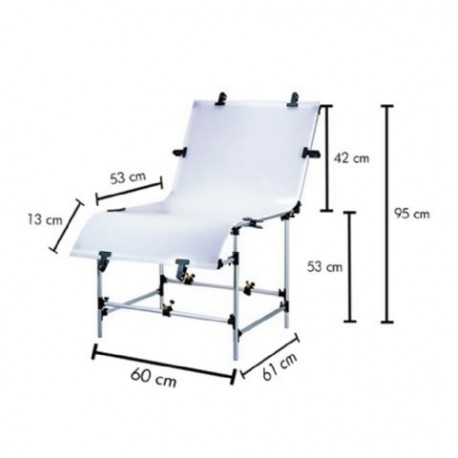 Lighting Tables - Falcon Eyes Photo Table ST-0613T 60x130 - buy today in store and with delivery
