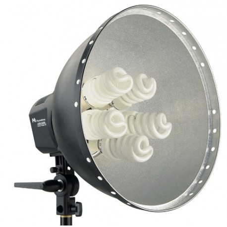 Fluorescējošās - Falcon Eyes Lamp + Reflector 40cm LHD-5250F 5x28W 290520 - perc šodien veikalā un ar piegādi