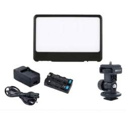 LED uz kameras - Falcon Eyes Soft LED lampas komplekts + akumulators DV-80SL-K2 - perc šodien veikalā un ar piegādi