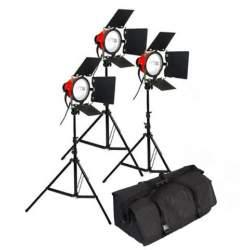 Halogēnās apgaismojums - StudioKing Falcon Eyes Halogen Light Video Set TLR800 - ātri pasūtīt no ražotāja
