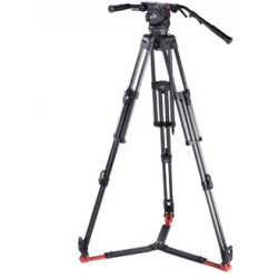 Video statīvi - Sachtler System 7+7 HD MCF tripod kit with mid-level spreader & bag Tripods and more - ātri pasūtīt no ražotāja