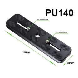Statīvu aksesuāri - Universāla ātrās noņemšanas pēda 140mm PU-140 Universal Quick-Release Plate - perc veikalā un ar piegādi
