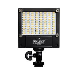 Video LED - Akurat Lightning A1 (V-WHITE) High Power LED on-camera fixture with CCT control without battery adapter - perc šodien veikalā un ar piegādi