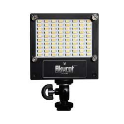 LED uz kameras - Akurat Lightning A1 (V-WHITE) High Power LED on-camera fixture with CCT control without battery adapter - perc šodien veikalā un ar piegādi