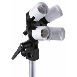 Ekonomiskās - Falcon Eyes Lampholder LH-4E27LS 4 x E27 with Tilting - perc veikalā un ar piegādi