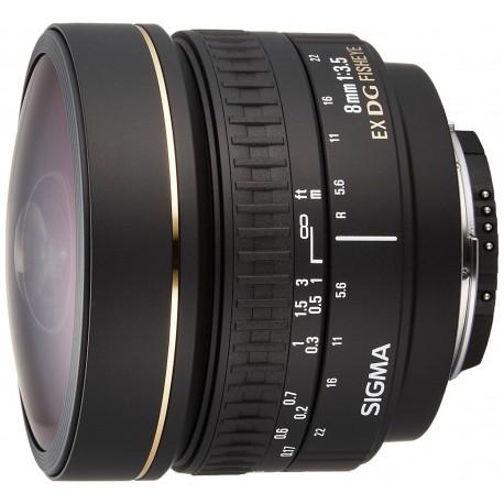 Lenses - Sigma EX 8mm F3.5 DG Zirkular-Fisheye Nikon - quick order from manufacturer