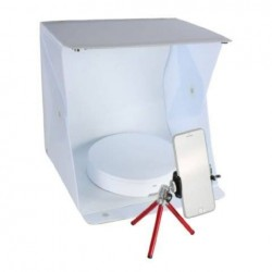 Jaunums - Orangemonkie Mini Turntable Foldio360 with photo tent and tripod - ātri pasūtīt no ražotāja