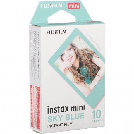 Instantkameru filmiņas - FUJIFILM Colorfilm instax mini SKY BLUE FRAME Film (10 Exposures) - perc šodien veikalā un ar piegādi