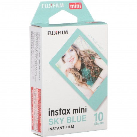 Film for instant cameras - FUJIFILM Colorfilm instax mini SKY BLUE FRAME Film (10 Exposures) - buy today in store and with delivery