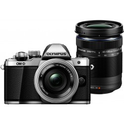 Mirrorless cameras - Olympus E-M10II silver + EZ-M1442 IIR silver + EZ-M4015 R black - buy in store and with delivery