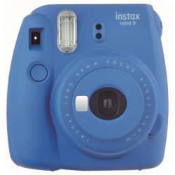 Instantkameras - Fujifilm instax mini 9 cobalt blue instant camera+instax glossy 10pcs + soma - perc veikalā un ar piegādi