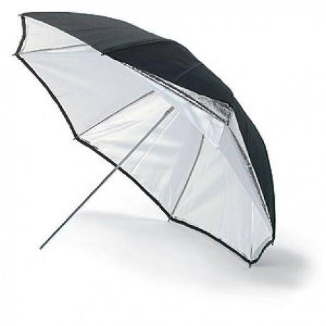 Vairs neražo - Bowens BW-4046 lietussargs 115 cm sudrabs/balts