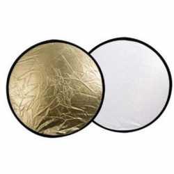 Saliekamie atstarotāji - Falcon Eyes Reflector CFR-22GS Gold/Silver 56 cm - perc veikalā un ar piegādi