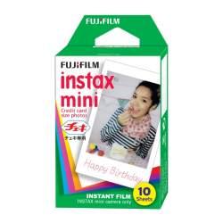 Картриджи для инстакамер - FUJIFILM instax mini film (glossy) (color) (1x10 - single pack) - купить сегодня в магазине и с доставкой