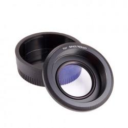 Adapteri - M42-Nikon AI adapteris ar lēcas korekciju M42 objektīvs uz Nikon kameru - perc veikalā un ar piegādi