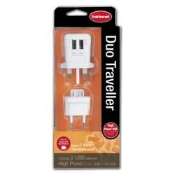 Kameras bateriju lādētāji - HÄHNEL DUO TRAVELLER USB CHARGER - ātri pasūtīt no ražotāja