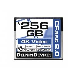 New - DELKIN 256GB CINEMA CFAST 2.0 - 560MB/S READ, 495M - quick order from manufacturer